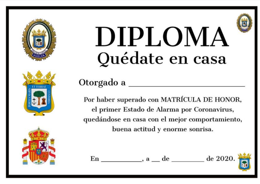 Diploma quédate en casa